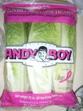 ...and Andy Boy Jumbo Romaine Hearts (fresh seal)