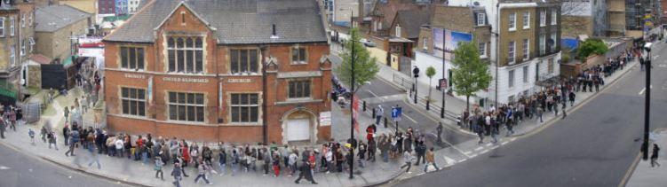 Queue for tickets for Camden Crawl 2008