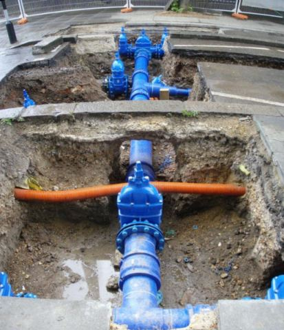 New Thames Water pipes
