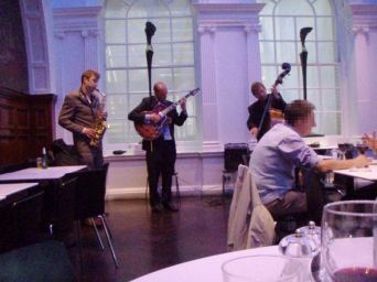 Jazz at the Royal Academy Restaurant. Nice! (click here for video)