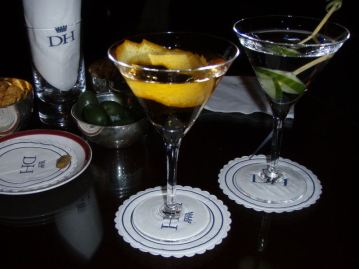 Martinis by Alessandro Palazzi at Duke's Hotel - where Ian Fleming invented the Vesper. (£18 each)