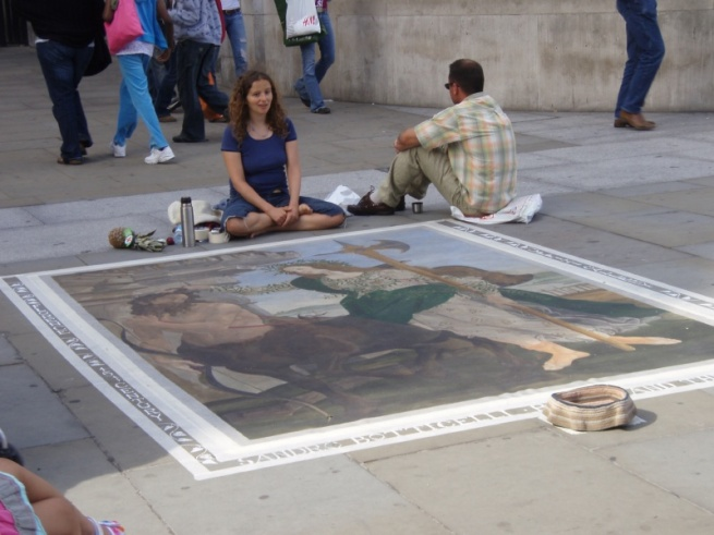 Street art outside the National Gallery