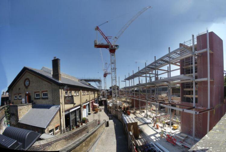 Construction progess @ Camden Stables Market