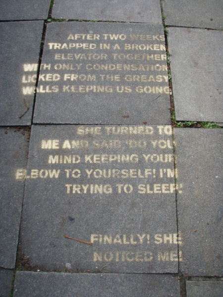Pavement prose