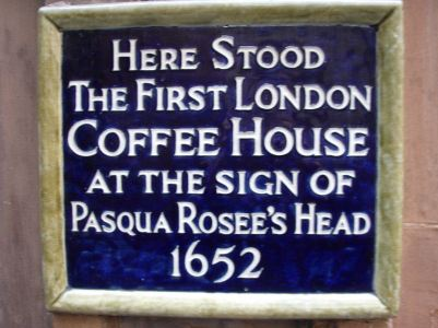 Site of first London coffee house