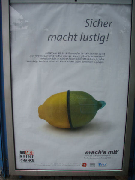 Poster in Pforzheim, Germany