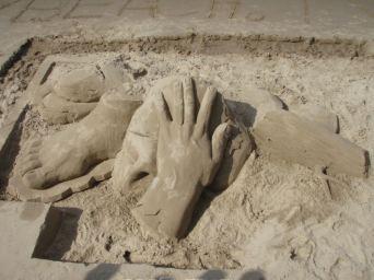 South Bank sand art
