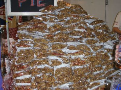 Pork scratchings mountain at the Great British Beer Festival
