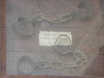 Manacles (circa 1715) in a pub on Seymour Place