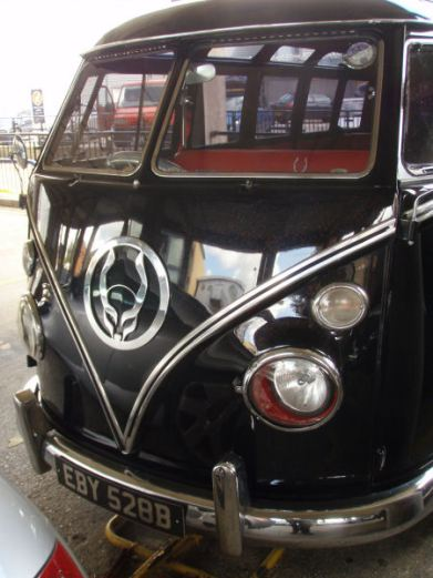 Cyberdog's pimped VW van.