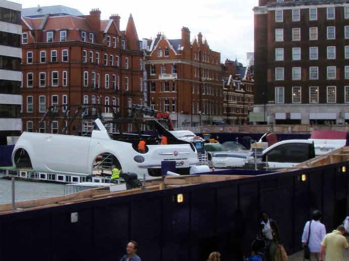 Giant car found on Oxford Street