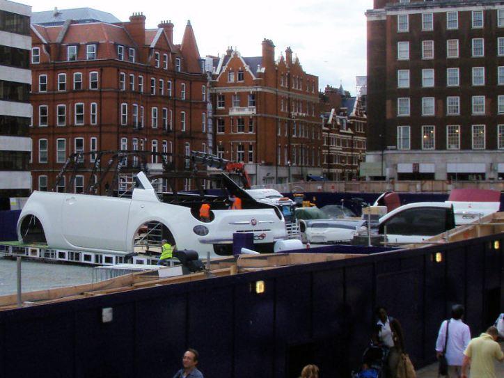 Giant car found on Oxford Street