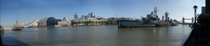 SB Lady Daphne, The Gherkin, HMS Belfast, Tower Bridge