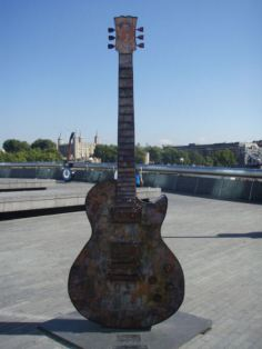 A painted guitar