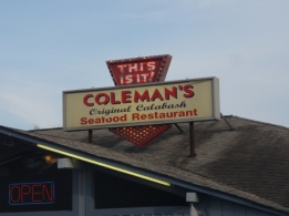 Dinner at Coleman's Original Calabash seafood restaurant