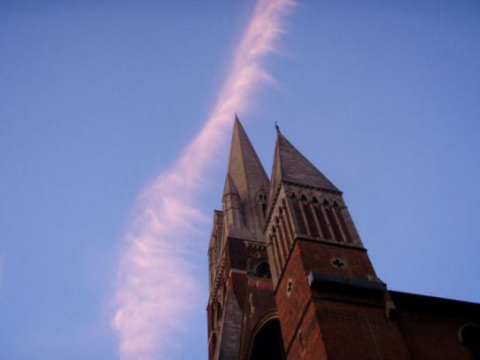 Pink clouds over St. Augustines
