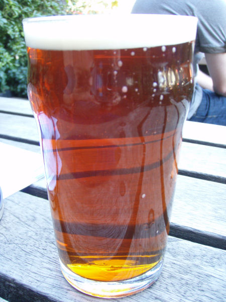 Pint of real ale at The Manor House, Clapham Manor Street