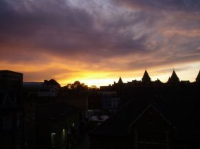 Sunset from office window.