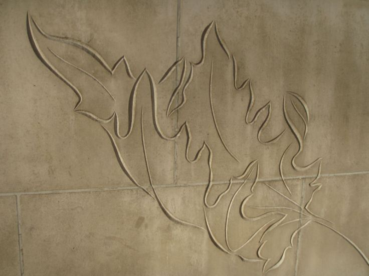 Leaf motif on Hyde Park Corner subway stairs