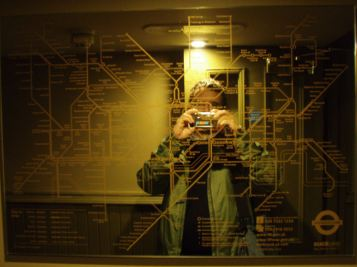 Tube map mirror in Hawley Arms