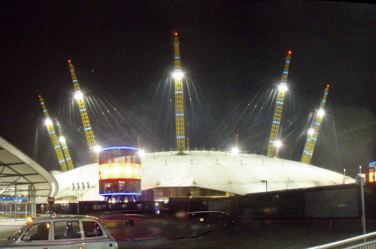 Our first visit to the millenium dome, sorry, O2