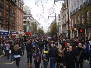 Very Important Pedestrian day on Oxford Street.