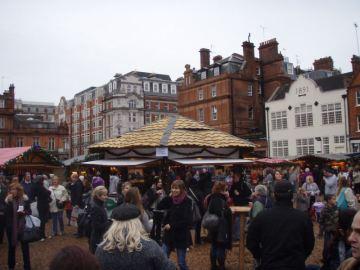 Christmas Market on Oxford Street - Mmmm, Gluhwein!