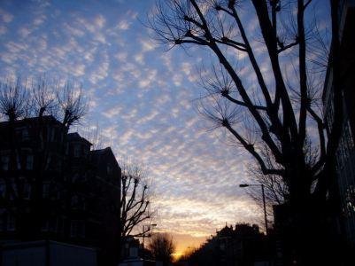 A December morning sky