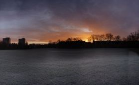 Frosty sunrise @ Pad Rec