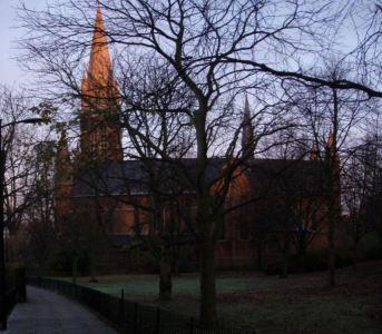 Local church @ sunrise
