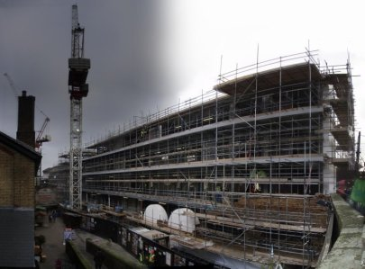 Construction progess @ Camden Stables Market (see 2008_07)