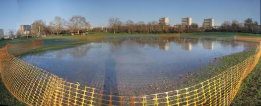 At least the cricket pitch-lake is thawing now
