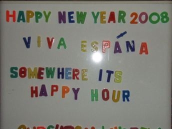 Happy new year 2008 - we saw the new year in with a tapas party