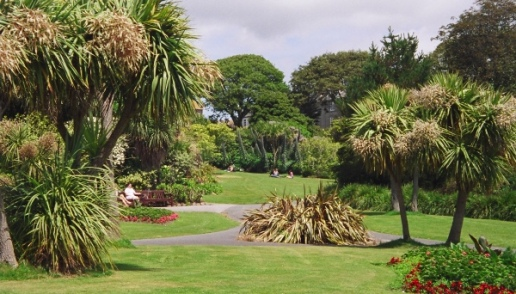 A small park in Penzance. The unique climate allows for pockets of tropical plants that wouldn't normally be hardy in Britain.