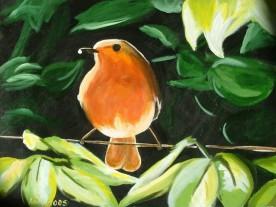 Robin (40x30cm acrylic May 2005)