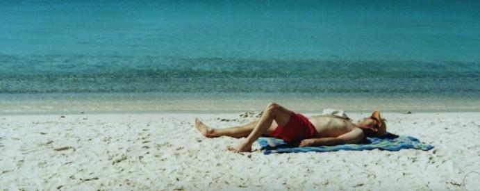 Shane basking at Salt Pond Bay