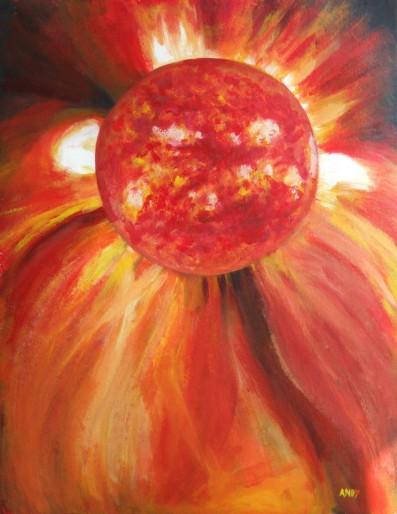 Sun (50x65cm acrylic June 2007)