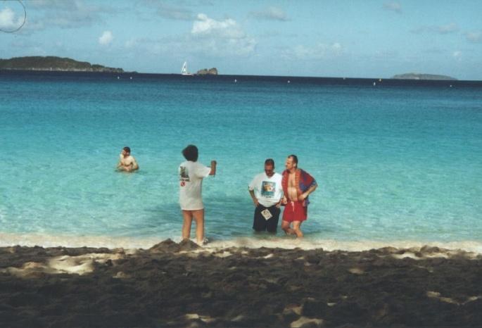 Swiming in Trunk Bay