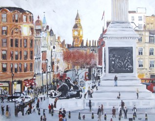 Trafalgar Square (65x50cm acrylic March 2009)