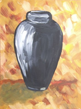 Black Vase (30x40cm acrylic May 2006)