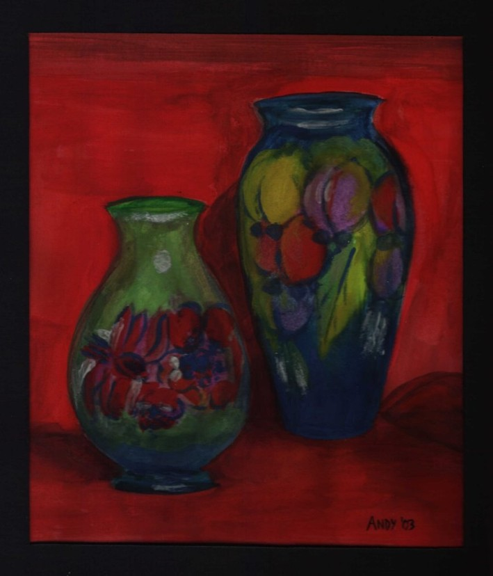 Vases (20x30cm water colour 2003)