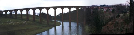 Disused Leaderfoot railway viaduct