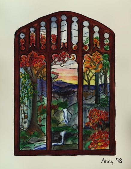 Stained Glass Window (water colour 1998)