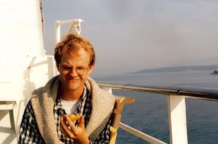 Shane on the ferry to Hvar