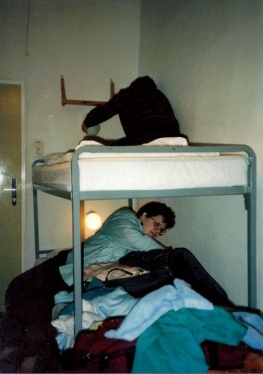 Someone asked if you guys sleep in bunk beds - I said 'yes, of course.'