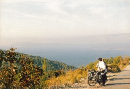 Our motorbikes on Hvar