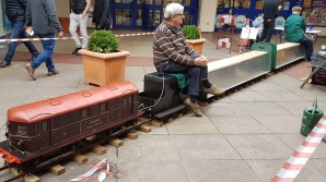 Miniature steam trains at Leatherhead
