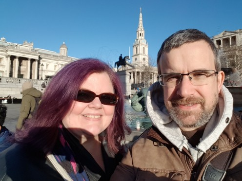 Us in Trafalgar Square