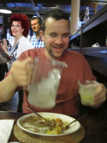 AquaRiva tequila tasting with Cleo Rocos @ Cafe Pacifico (artist impression - forgot to take pictures)