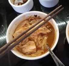 Instant noodle soup test run